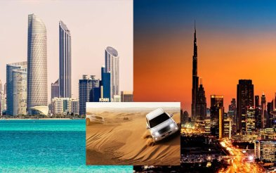 Dubai City Tour + Desert Safari + Abu Dhabi City Tour