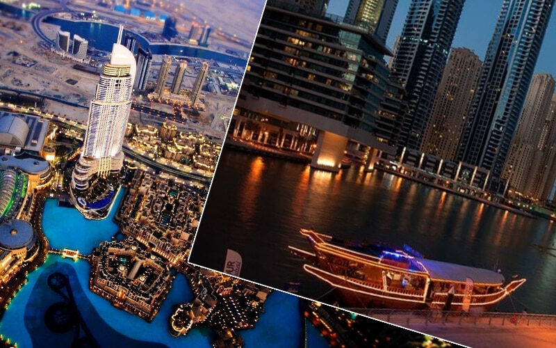 Dubai City Tour + Marina Cruise Dinner