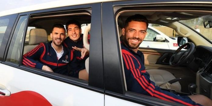 Arsenal Players Visits Desert Safari in Dubai